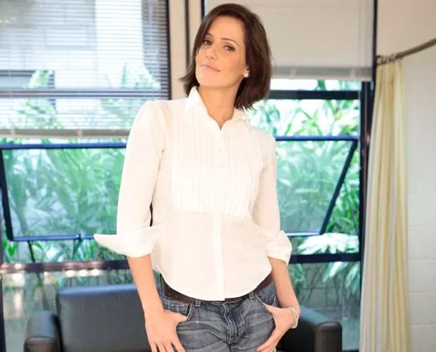 Deborah Secco sobre a maternidade: 'Depende de Deus' (Foto: Domingão do Faustão/ TV Globo)