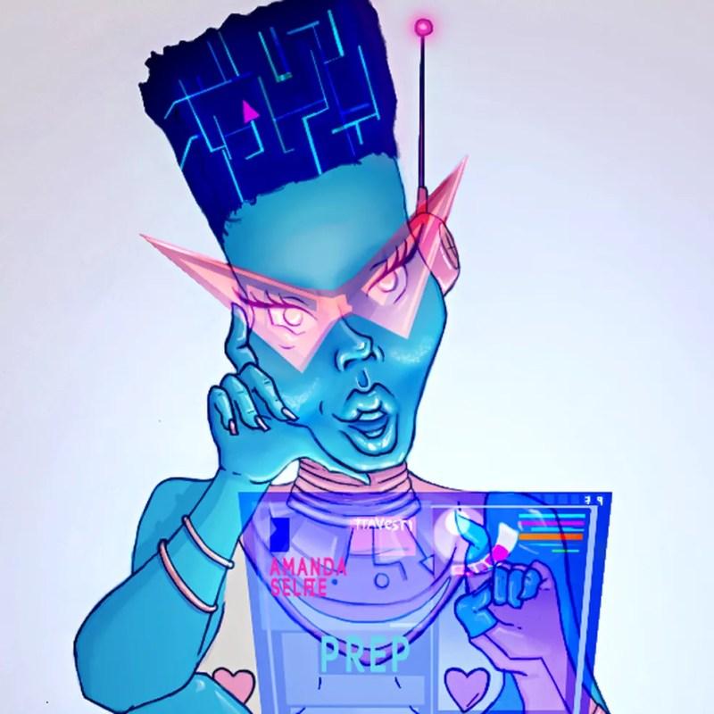 Amanda Selfie é o nome do 'robô trans' criado pelas universidades para interagir com jovens. — Foto: Divulgação / Faculdade de Medicina UFMG