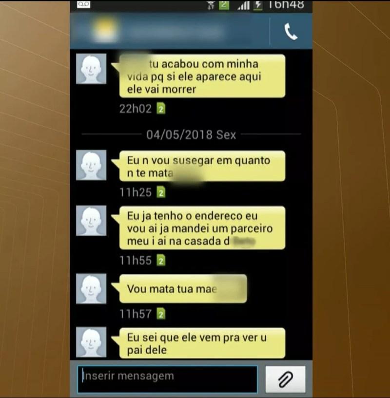Conversas no celular da grávida esfaqueada dentro da delegacia mostram ameaças do ex-marido, em Bayeux, Paraíba (Foto: Reprodução/TV Cabo Branco)