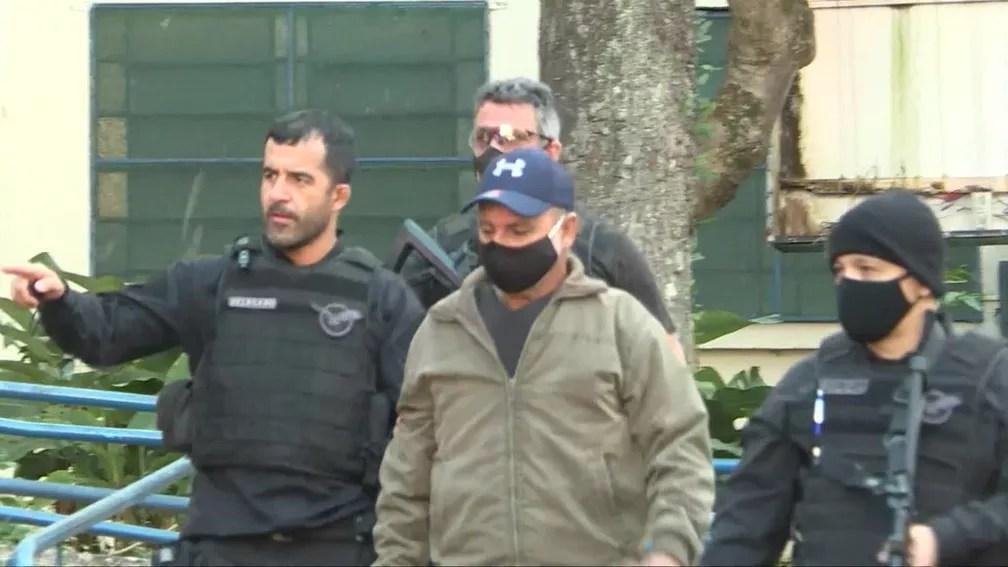 Fabrício Queiroz chega ao IML de São Paulo apos ser preso na manhã desta quinta-feira — Foto: TV Globo