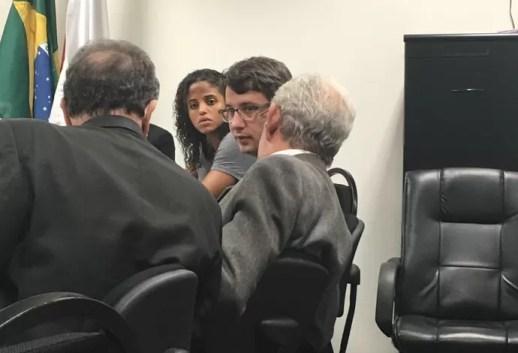 Etiene Medeiros e advogado Marcelo Franklin STJD (Foto: Arquivo pessoal)