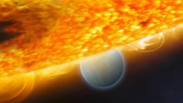 O HD189733b, eclipsado por sua estrela, é candidato a ter o clima mais extremo conhecido em qualquer planeta — Foto: Getty Images