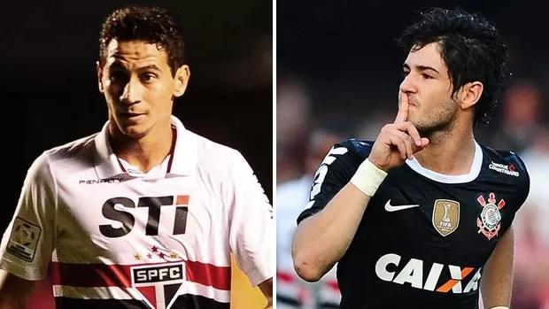 Montagem Ganso Pato, São Paulo x Corinthians (Foto: Marcos Ribolli)