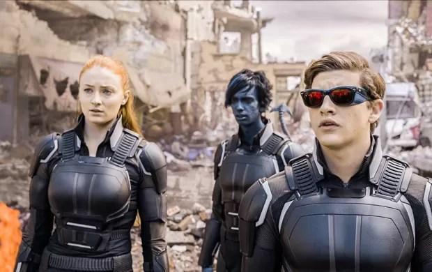 Jean Grey, Noturno e Ciclope em cena de 'X-Men: Apocalipse' (Foto: Divulgação)