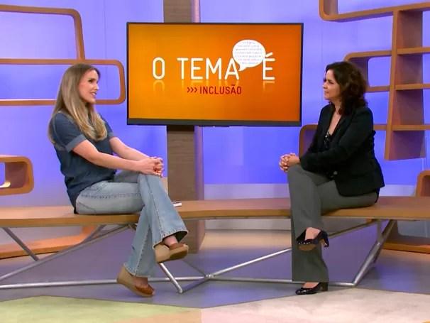 No estúdio Mariana Ferrão recebe a procuradora regional da República, Eugênia Augusta Gonzaga (Foto: Globo)