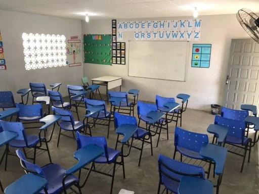 Pelo menos sete cidades do RN suspenderam as aulas nas escolas municipais (Foto: Kléber Teixeira/Inter TV Cabugi)
