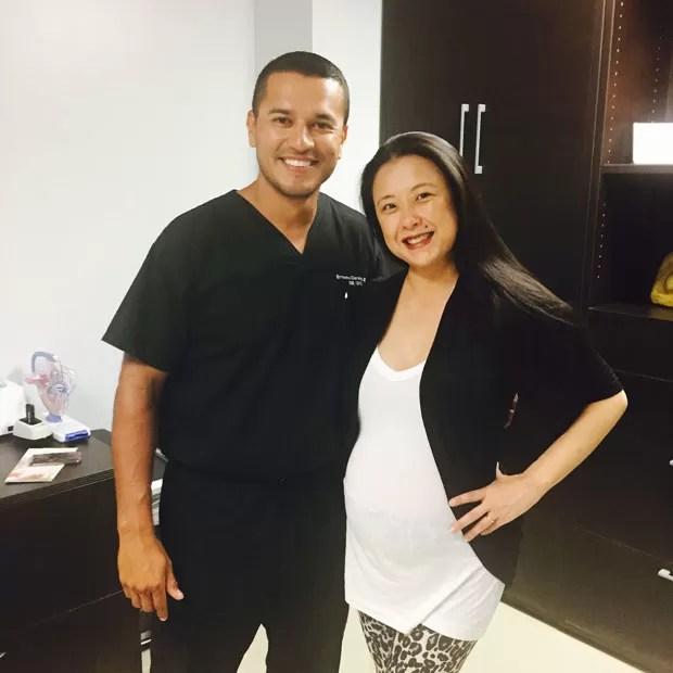 Irene Kim foi a Miami para comprar enxoval e acabou dando à luz nos Estados Unidos  (Foto: Arquivo Pessoal)