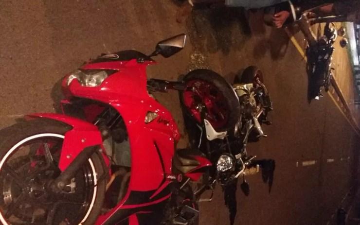Motos envolvidas no acidente em José Bonifácio (Foto: Arquivo Pessoal)