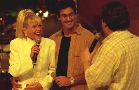 In 1997, when she announced her pregnancy alongside Luciano Szafir on Faustão's program Divulgação