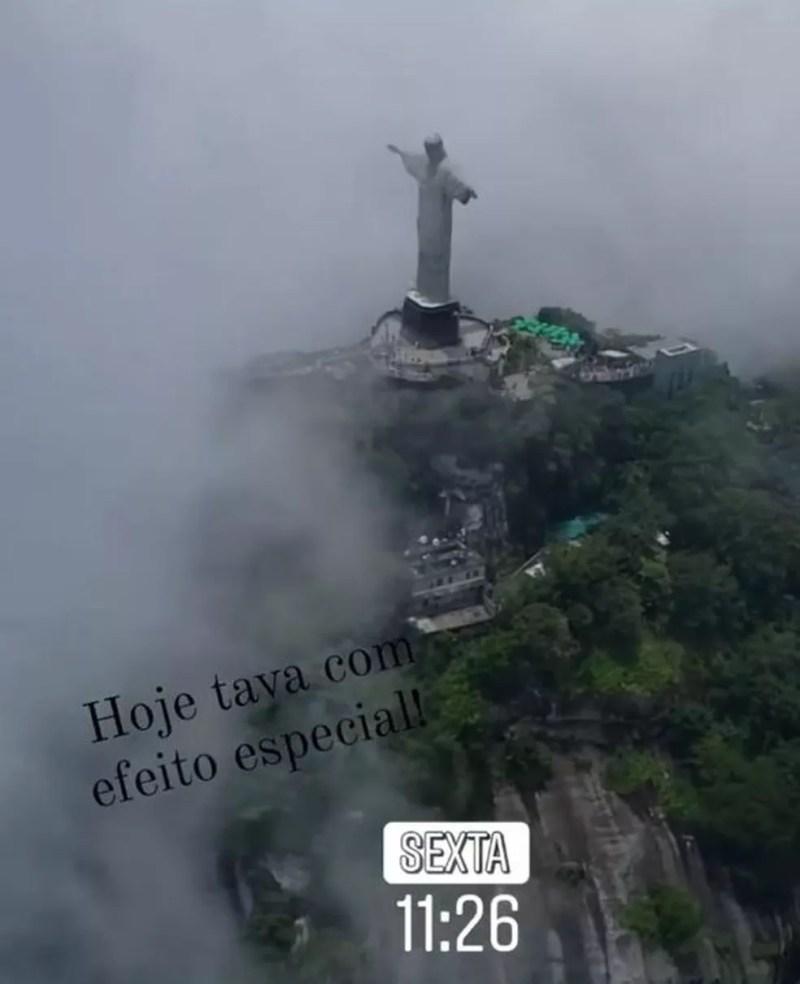 Registro feito pelo piloto Eurico Azevedo horas antes do acidente em Angra dos Reis — Foto: Redes Sociais