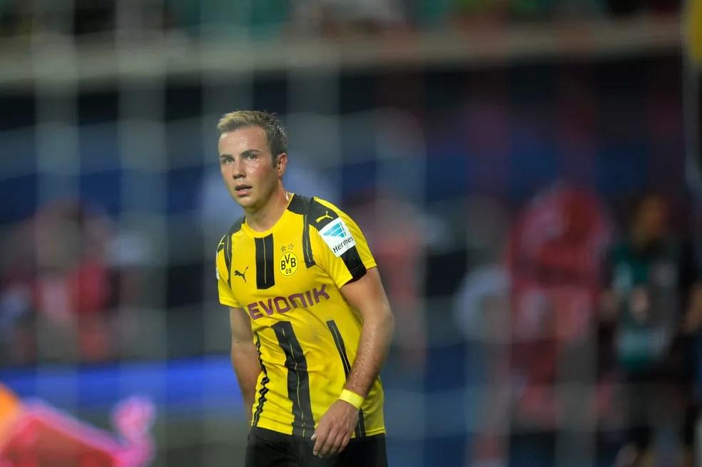 Mario Götze está afastado desde fevereiro (Foto: Reuters)