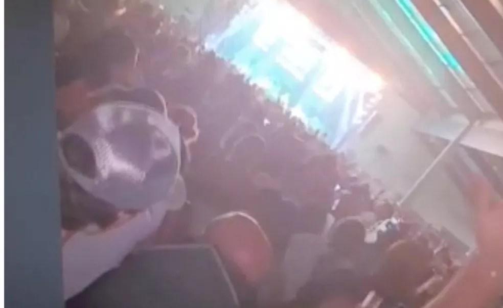Festa de dupla sertaneja reúne multidão durante pandemia, em Campo Grande (MS). — Foto: Redes Sociais