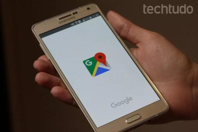 Aprender cómo eliminar el historial de ubicaciones de Google Maps en la celda (Foto: Carolina Ochsendorf / TechTudo)