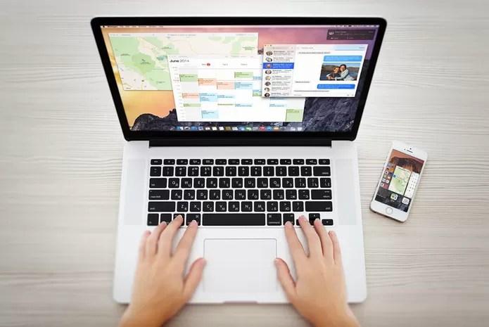 iPhone-no-Mac-OS-X (Foto: Divulgação/Apple)