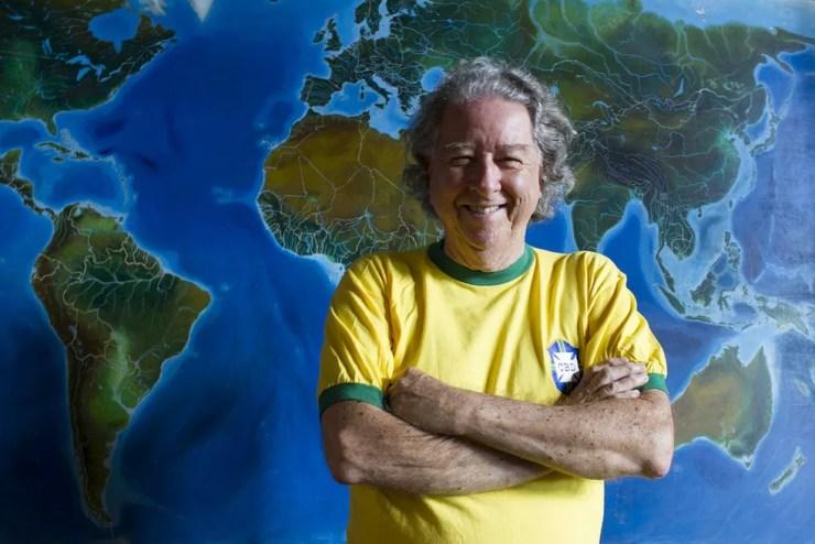 Aldyr lutava contra um câncer de pele desde 2012. Ele era escritor, jornalista, desenhista e professor. — Foto: Gilberto Perin/Divulgação