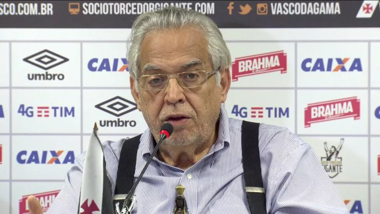 Eurico Miranda, presidente do Vasco — Foto: Reprodução/TV Globo