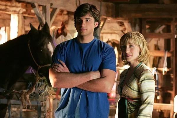 Allison Mack e Tom Welling em cena de Smallville (Foto: Divulgação)