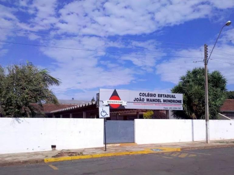 Segundo a polícia, o ataque foi registrado na manhã desta sexta-feira (28), no Colégio Estadual João Manoel Mondrone, em Medianeira — Foto: Divulgação