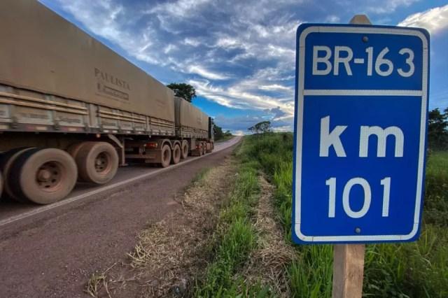 Km 101 da BR-163  — Foto: Marcos Santos/Agência Pará