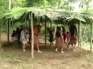 Índios pataxós ocupam área próxima à BR-101 (Foto: Reprodução/TV Rio Sul)