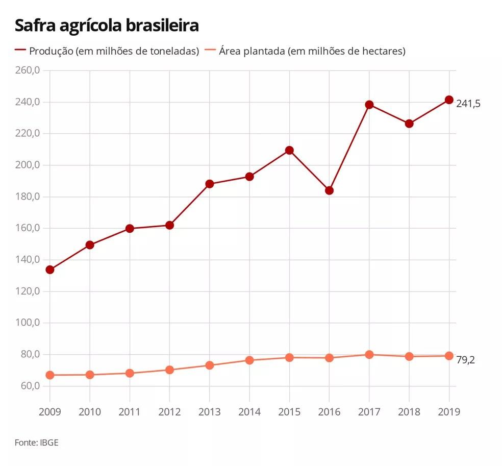 Safra agrícola brasileira — Foto: G1 Agro