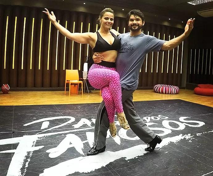 Semana foi de ensaios para Marcelo Grangeiro e Viviane Araújo (Foto: Divulgação / Marcelo Grangeiro)