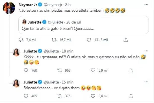 Juliette e Neymar (Foto: Reprodução / Twitter)