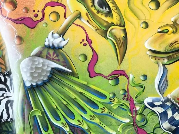 Mural criado pelo artista Diant é citado por secretário como exemplo de grafite para ser mantido (Foto: George Varela/Divulgação)