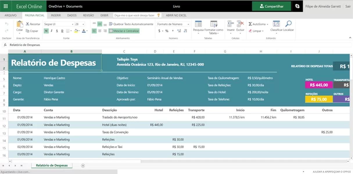 Excel Templates Download TechTudo