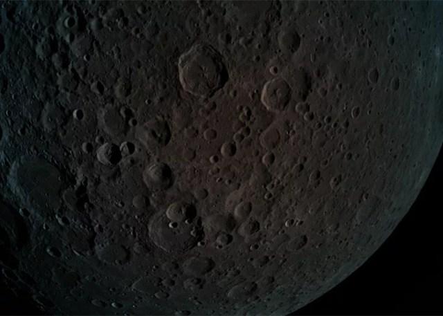 Foto da Lua divulgada no dia 5 de abril (Foto: Reprodução/Twitter/TeamSpaceIL)