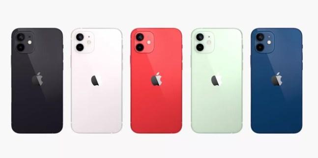 Todas as cores do iPhone 12 — Foto: Reprodução/Apple