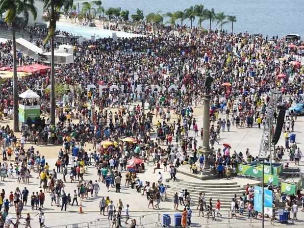 Boulevard Olímpico na Praça Mauá (Foto: Alexandre Macieira/Riotur)