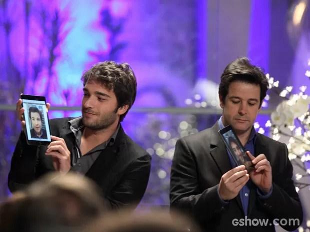 Davi e Jonas arrasam em apresentação divertida (Foto: Camila Camacho / TV Globo)