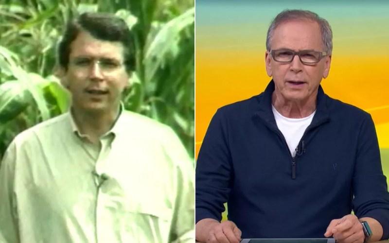 Apresentador Nelson Araújo do Globo Rural passou parte da carreira na EPTV Ribeirão. — Foto: Arte/G1