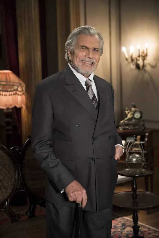 Tarcísio Meira em sua última novela, Orgulho e Paixão (Foto: Globo)