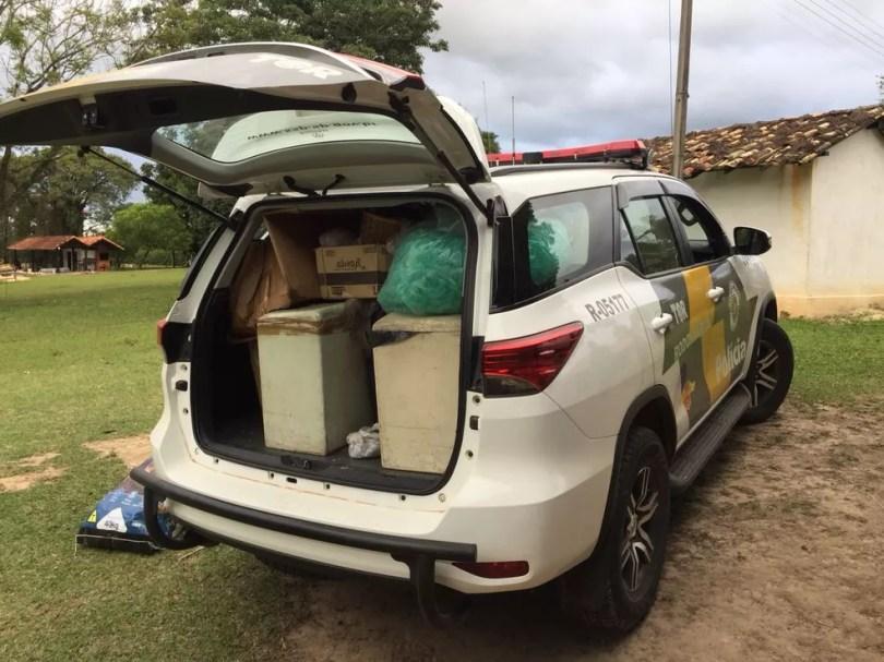 Grande quantidade de drogas é encontrada em sítio de Itu (Foto: Polícia Rodoviária/Divulgação)