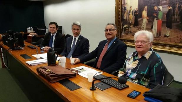 Deputados do PSOL e da Rede foram os primeiros a chegar à CCJ no dia em que terá início o debate da denúncia contra Temer (Foto: Bernardo Caram, G1)