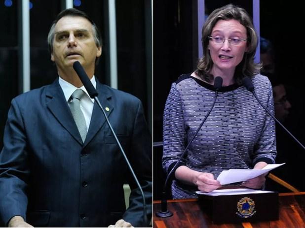 Montagem mostra os deputados Jair Bolsonaro (PSC-RJ) (esq.) e Maria do Rosário (PT-RS) (dir.) (Foto: Gabriela Korossy e Luis Macedo / Câmara dos Deputados)