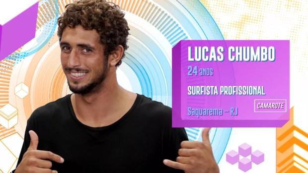 Lucas Chumbo é participante do BBB20 — Foto: Globo
