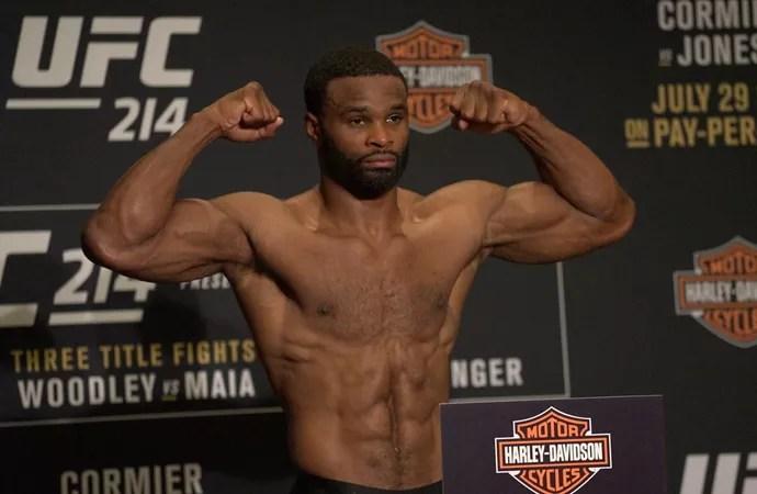 Tyron Woodley pesagem UFC 214 (Foto: Evelyn Rodrigues)