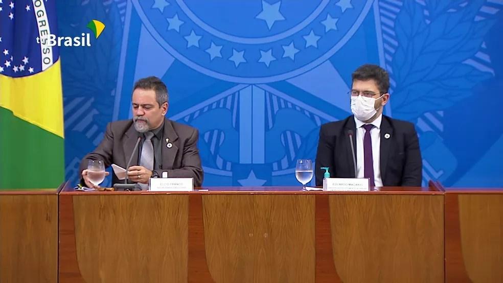 Coletiva do Ministério da Saúde explica mudança nos critérios de contagem de mortes — Foto: Reprodução/GloboNews