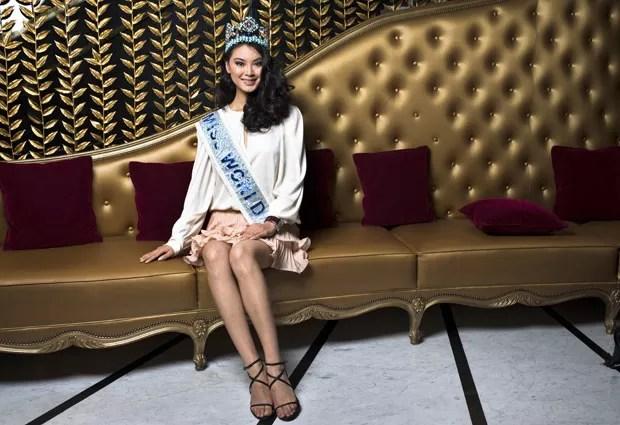 Wenxia Yu, vencedora do Miss Mundo 2012 (Foto: Fred Dufour/AFP)