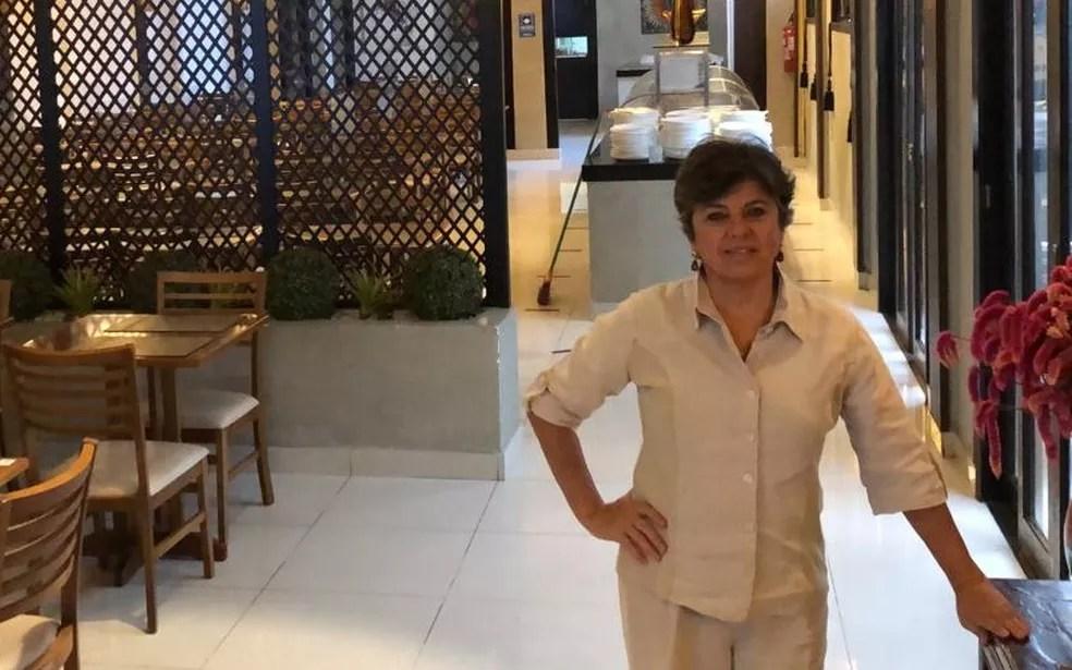 Maria Teresa Dias, dono de quilo no Itaim, diz ter fôlego para manter o restaurante aberto só até agosto. — Foto: Arquivo pessoal