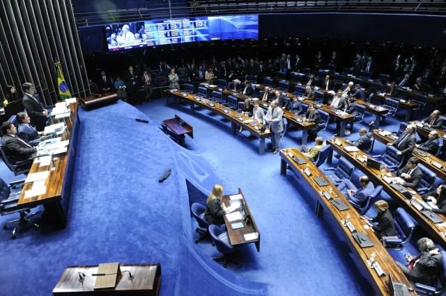 Plenário do Senado Federal durante sessão deliberativa ordinária — Foto: Jonas Pereira/Agência Senado