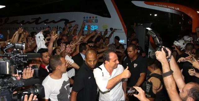 Rogério Ceni, técnico do São Paulo, em Londrina (Foto: Rubens Chiri / saopaulofc.net)