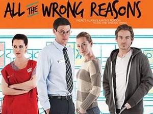 Cory Monteith (de gravata) em cartaz de 'All the Wrong Reasons' (Foto: Divulgação)