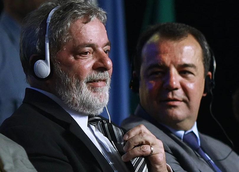 Ex-presidente Lula e ex-governador Sérgio Cabral na escolha do Rio como sede das olimpíadas de 2016 (Foto: Divulgação / Ricardo Stuckert / Arquivo)