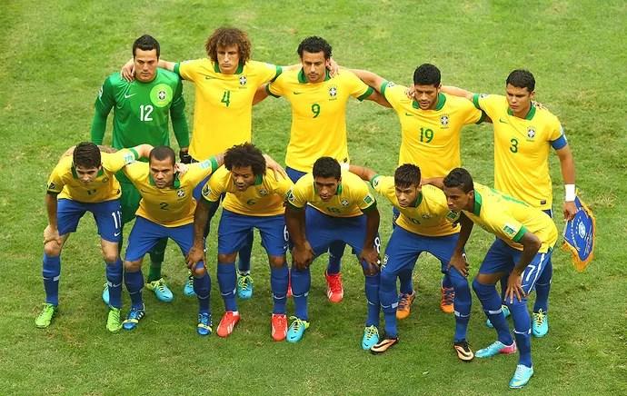 Brasil time posado Copa das Confederações (Foto: Getty Images)
