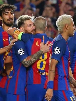 Barcelona x Celtic (Foto: Reuters)