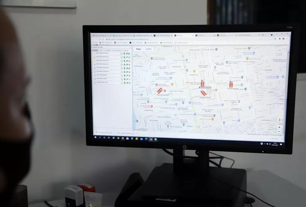 Novo sistema de mapeamento de ocorrências do Samu em Porto Velho — Foto: Divulgação/Prefeitura de Porto Velho/Saul Ribeiro